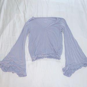 Long sleeve top light blue